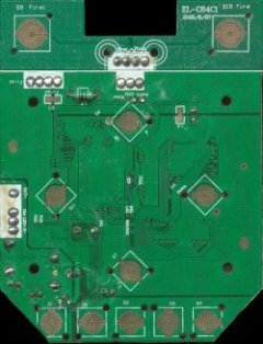 C64-DTV printed circuit board, bottom side.